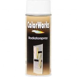 Peinture radiateur - Blanc - Aérosol 400 ml - COLORWORKS