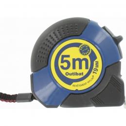 Mètre avec boitier ABS ergonomique - 5 M - OUTIBAT