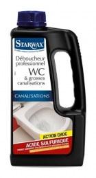 Déboucheur professionnel WC - Acide sulfurique - 1 L - STARWAX