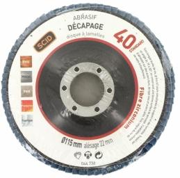 Disque à lamelles - Zirconium - Diamètre 150 mm - Grain 40 - SCID
