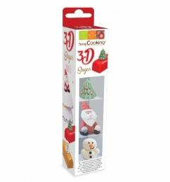 Décors 3D en sucre - Noël - SCRAPCOOKING
