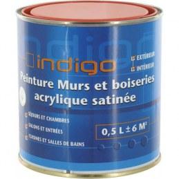 Peinture acrylique satin - Bauxite - 500 ml - INDIGO
