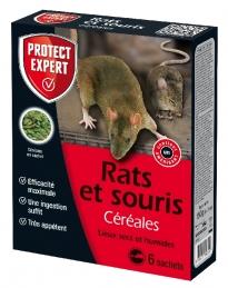 Raticide et souricide - Appâts à base de céréales - 150 Grs - PROTECT EXPERT