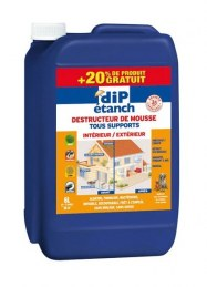 Traitement Anti Mousse 5L + 20% Gratuit - DIP ETANCH