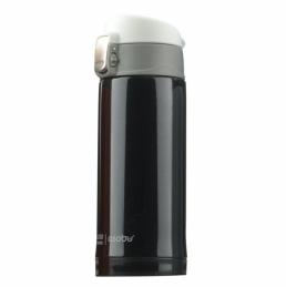 Mini bouteille isotherme Diva - Double paroi - Noir - 20 cl - ASOBU
