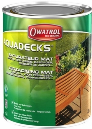 Saturateur bois en phase aqueuse - Aquadeck - 1 L - OWATROL