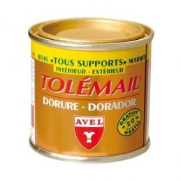 Peinture de décoration - Tolemail Dorure - Or pâle - 50 ml - AVEL