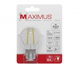 Ampoule filament LED - E27 - 2 Watts - Maximus - DURACELL