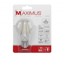 Ampoule filament LED - E27 - 4 Watts - Maximus - DURACELL