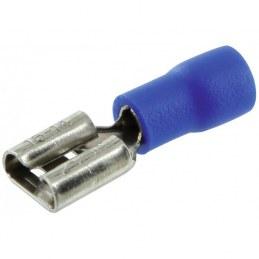 Lot de 10 clips femelles pré isolés Ø6.35 mm - Bleu - DHOME