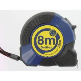 Mètre avec boitier ABS ergonomique - 8 M - OUTIBAT