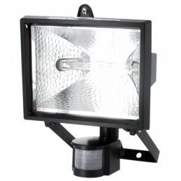 Projecteur halogène avec détecteur de mouvement - 120 Watts - Noir - DHOME