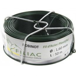 Bobinots fil attache - Acier galvanisé plastifié - Vert - 50 M * 1.6 mm - FILIAC