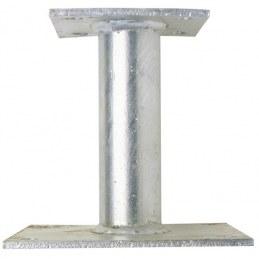Pied de poteau à platine fixe - 100 mm - GAH ALBERTS