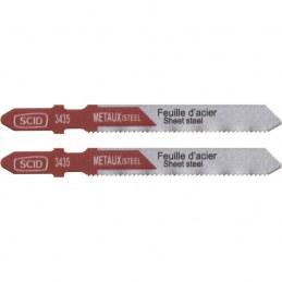 Lame de scie sauteuse métal HSS accroche en T SCID - Pas de dent 1.2 mm - Longueur 75 mm - Vendu par 2