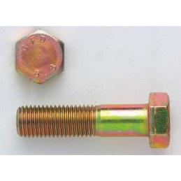 Corps de boulon tête hexagonale 6 pans 8/8 zingué jaune - 16 x 60 mm - Lot de 25 - GFD