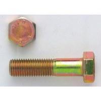 Corps de boulon tête hexagonale 6 pans 8/8 zingué jaune - 12 x 120 mm - Lot de 50 - GFD