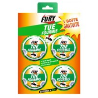 Boîtes appât - Fourmis - 3 + 1 gratuite - FURY