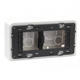 Cadre Mosaic - 4 modules montage horizontal - Profondeur 40 mm - LEGRAND