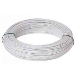 Fil de tension pour grillage - Acier galvanisé plastifié - Blanc - 25 M x 2 mm - FILIAC