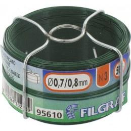 Fil d'attache grillage - Plastifié vert - 50 m - Ø 0.8 mm - FILGRAF