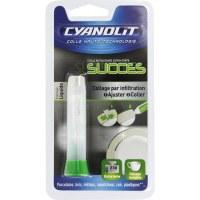Colle Cyanolit ultra rapide Cyanolite - Verte 2 gr