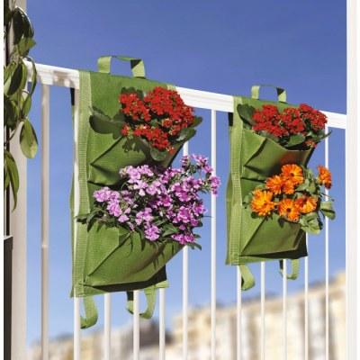 Jardin vertical - 4 poches - Vert - Lot de 2 - CATRAL