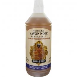 Savon noir à l'huile de lin - Nettoie et protège sans rinçage - 1 L - AVEL