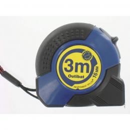 Mètre avec boitier ABS ergonomique - 3 M - OUTIBAT