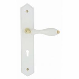 Poignée de porte - Laqué Blanc - Entraxe 195 mm - DT 2000