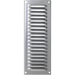 Grille de ventilation avec moustiquaire - métal - Verticale - 140 x 50 mm - Aluminium - DMO