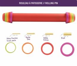 Rouleau à patisserie - 41 cm - Silicone - ajustable et anti-adhérent- MASTRAD