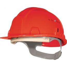 Casque de chantier avec coiffe - Rouge - OUTIBAT