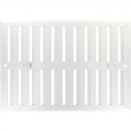 Grille de ventilation obturable - métal - 240 x 165 mm - Aluminium - DMO