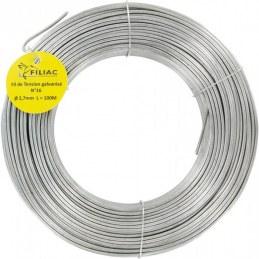 Fil de tension pour grillage - Acier galvanisé - N°16 - 100 M x 2.7 mm - FILIAC