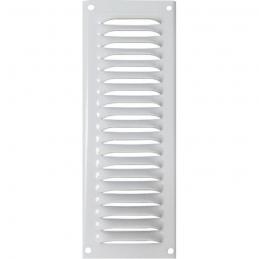 Grille de ventilation avec moustiquaire - métal - Verticale - 140 x 50 mm - Blanc - DMO