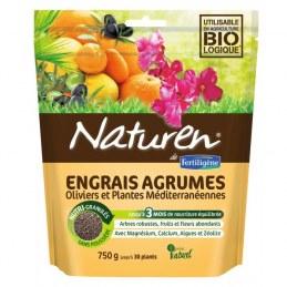 Engrais agrumes, Oliviers et plantes méditerranéennes - 750 Grs - NATUREN