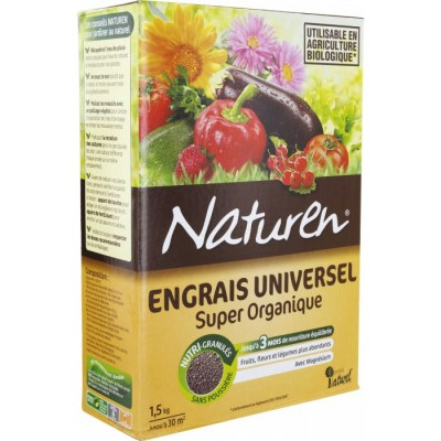Engrais universel - Super organique - 1.5 Kg - NATUREN