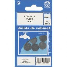 Joint Clapet plein Robinet - 14 x 7 mm - Lot de 6 - GRIPP