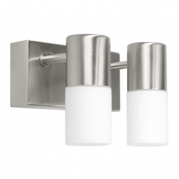 Applique de miroir de salle de bain - Acier et verre - Prada - RANEX