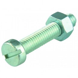 Boulon tête cylindrique fendue acier zingué - Ø 4 x 30 mm - Lot de 10 - FIX'PRO