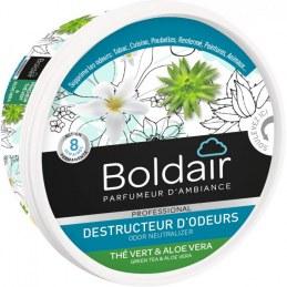 Destructeur d'odeur - Thé vert / Aloé véra - Gel solide 300 gr - BOLDAIR