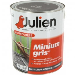 Primaire antirouille - Minium Gris - Protection anti-corrosion durable - 2.5 L - JULIEN