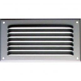 Grille de ventilation avec moustiquaire - métal - Rectangle - 190 x 100 mm - Aluminium - DMO