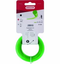 Fil de coupe pour débroussailleuse - Vert - 1.7 mm x 15 M - OREGON