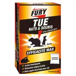 Granulés rats & souris - Unidose 25 Grs - 6 sachets - Foudroyant - FURY