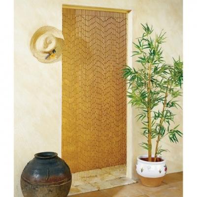 Rideau de porte en Bambou - Peint à la main - Garrigue - 90 x 200 cm - MOREL