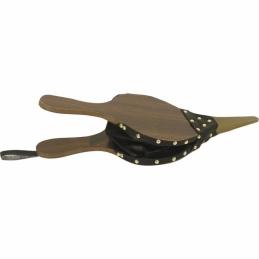 Soufflet en bois et simili cuir - 41 cm - AUBRY GASPARD