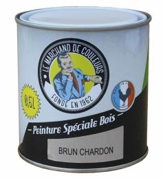 Peinture Spécial Bois - Satinée - Brun charbon - 0.5 L - ONIP