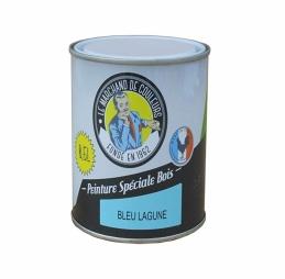 Peinture Spécial Bois - Satinée - Bleu lagune - 0.5 L - ONIP